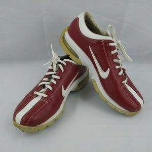 Nike Sport Performance Womens Size 9 Red White Lea